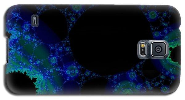 Blue Green Galaxy Fractal Galaxy S5 Case