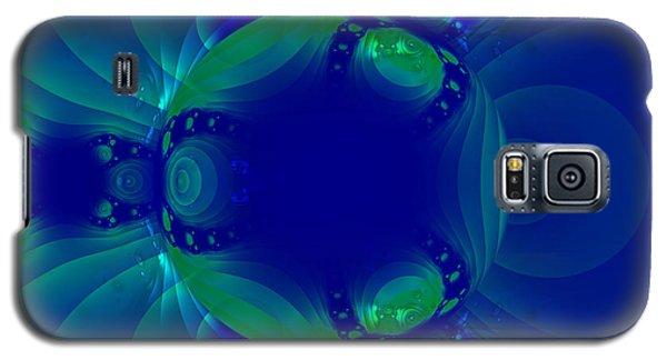 Blue Green Globe Luminant Fractal Galaxy S5 Case