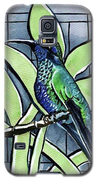 Blue Green Hummingbird Galaxy S5 Case