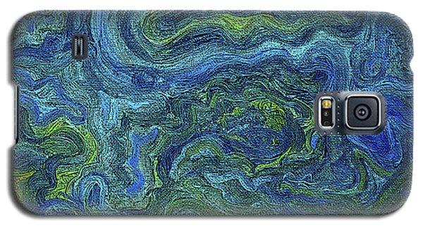 Blue Green Texture Galaxy S5 Case