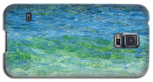 Blue Green Waves Galaxy S5 Case