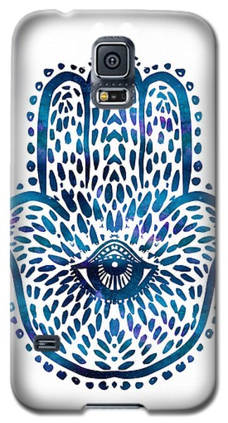 Blue Hamsa Hand Galaxy S5 Case