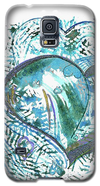 Blue Heart Galaxy S5 Case