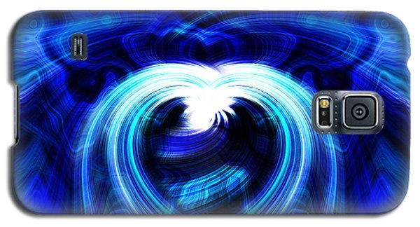 Blue Heart On Stage Galaxy S5 Case by Cherie Duran