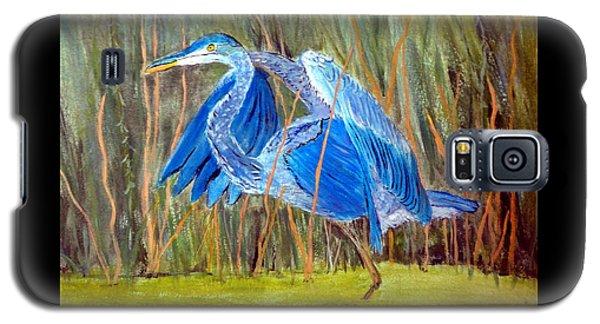 Blue Heron In Viera  Florida Galaxy S5 Case