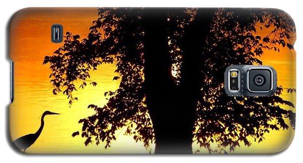 Blue Heron At Sunrise Galaxy S5 Case