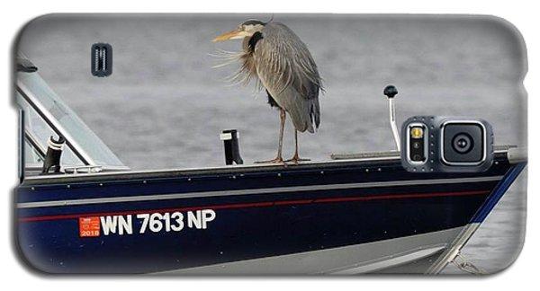 Blue Heron Boat Ride Galaxy S5 Case