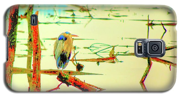Galaxy S5 Case featuring the photograph Blue Heron by Dale Stillman