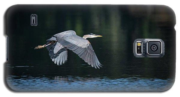 Blue Heron Flying Galaxy S5 Case