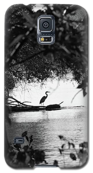 Blue Heron In Black And White. Galaxy S5 Case