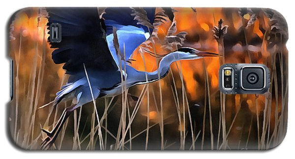 Blue Heron Galaxy S5 Case
