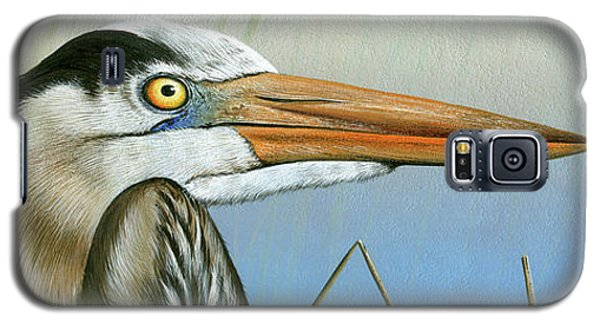 Blue Heron  Galaxy S5 Case by Mike Brown