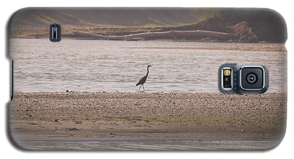 Blue Heron On The Yellowstone Galaxy S5 Case