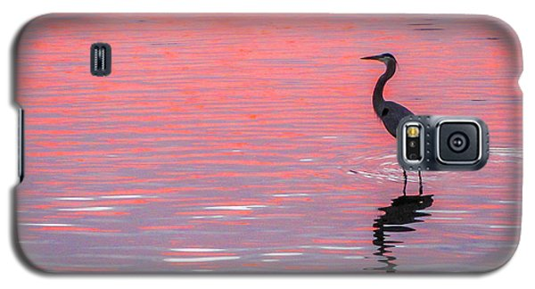Blue Heron - Pink Water Galaxy S5 Case