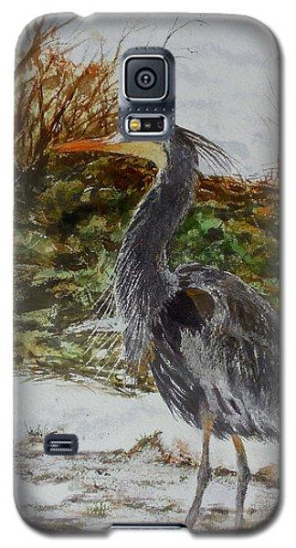 Blue Heron Galaxy S5 Case by Sher Nasser