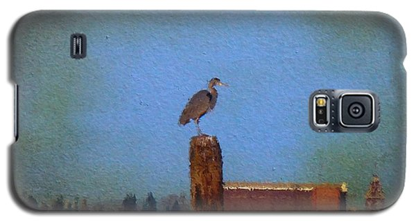 Blue Heron Sky Painted Galaxy S5 Case
