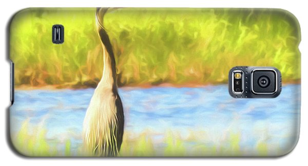 Blue Heron Standing Tall And Alert Galaxy S5 Case