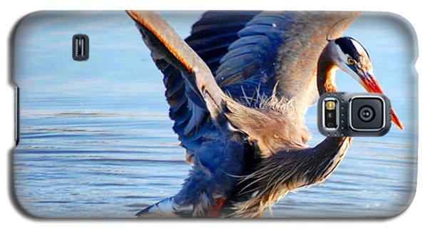 Galaxy S5 Case featuring the photograph Blue Heron by Sumoflam Photography