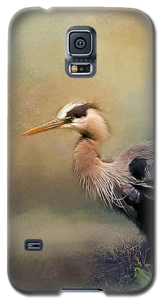 Blue Heron With Texture Galaxy S5 Case by Eleanor Abramson
