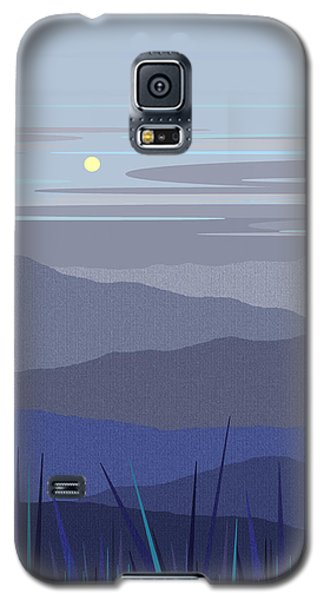 Galaxy S5 Case featuring the digital art Blue Hills Vertical by Val Arie