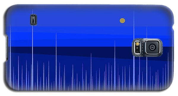Galaxy S5 Case featuring the digital art Blue Horizon by Val Arie