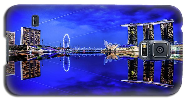 Blue Hour At Marina Bay Galaxy S5 Case