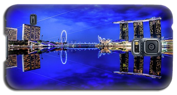 Blue Hour At Marina Bay Galaxy S5 Case
