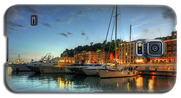 Galaxy S5 Case featuring the photograph Blue Hour At Port Nice 2.0 by Yhun Suarez
