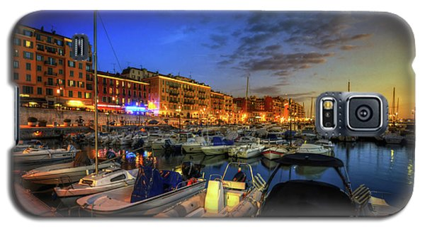 Galaxy S5 Case featuring the photograph Blue Hour At Port Nice 1.0 by Yhun Suarez
