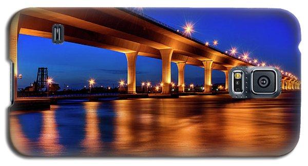 Blue Hour At Roosevelt Bridge In Stuart Florida  Galaxy S5 Case by Justin Kelefas