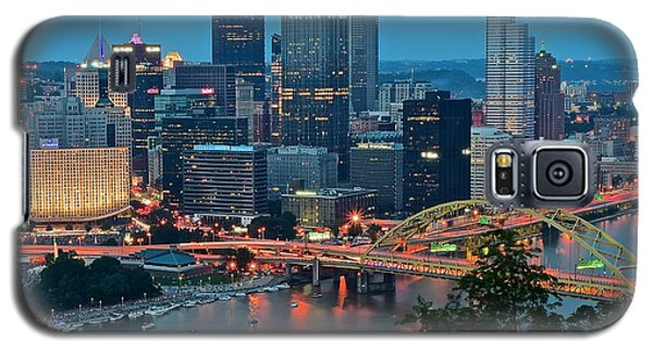 Blue Hour In Pittsburgh Galaxy S5 Case