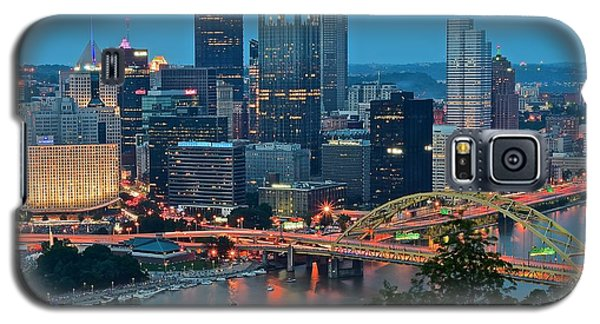 Blue Hour In Pittsburgh Galaxy S5 Case by Frozen in Time Fine Art Photography