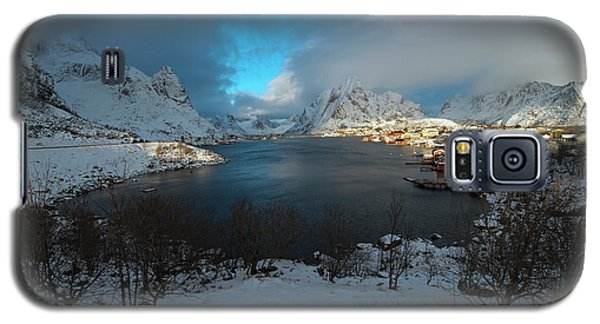 Galaxy S5 Case featuring the photograph Blue Hour Over Reine by Dubi Roman