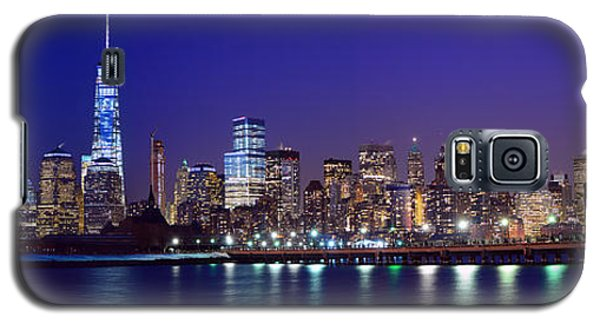 Blue Hour Panorama New York World Trade Center With Freedom Tower From Liberty State Park Galaxy S5 Case