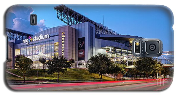 Blue Hour Photograph Of Nrg Stadium - Home Of The Houston Texans - Houston Texas Galaxy S5 Case