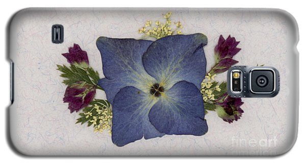 Blue Hydrangea Pressed Floral Design Galaxy S5 Case