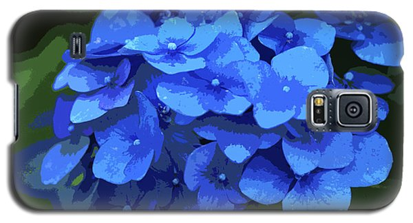 Blue Hydrangea Stylized Galaxy S5 Case