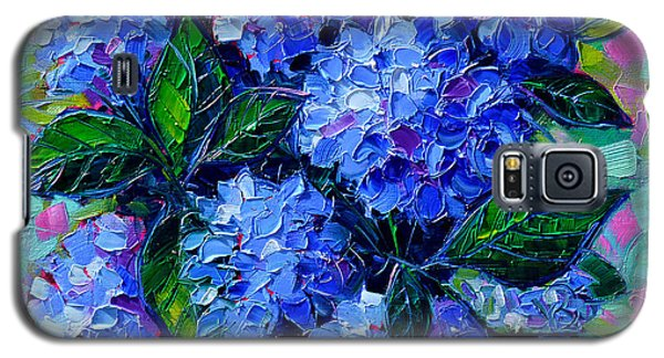 Blue Hydrangeas - Abstract Floral Composition Galaxy S5 Case