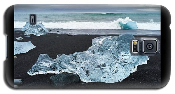 Cool Galaxy S5 Case - Blue Ice In Iceland Jokulsarlon by Matthias Hauser