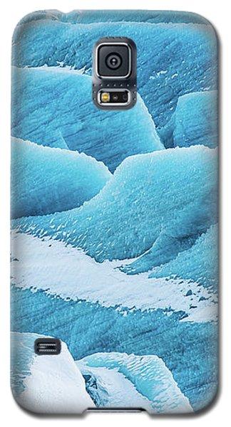Galaxy S5 Case featuring the photograph Blue Ice Svinafellsjokull Glacier Iceland by Matthias Hauser
