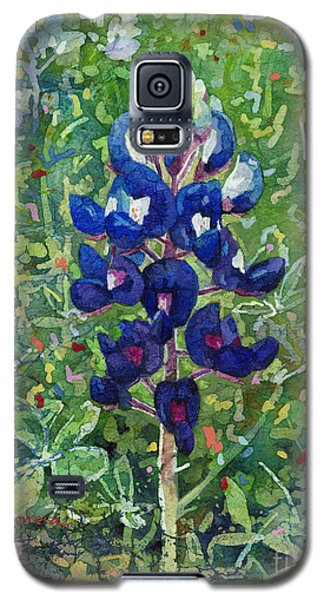 Galaxy S5 Case featuring the painting Blue In Bloom 2 by Hailey E Herrera