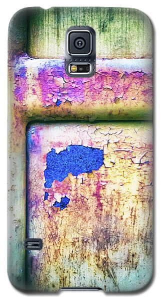 Galaxy S5 Case featuring the photograph Blue In Iron Door by Silvia Ganora