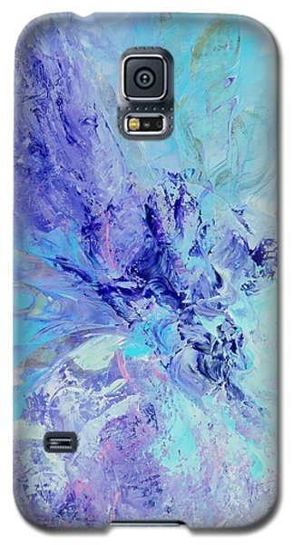 Galaxy S5 Case featuring the painting Blue Indigo by Irene Hurdle
