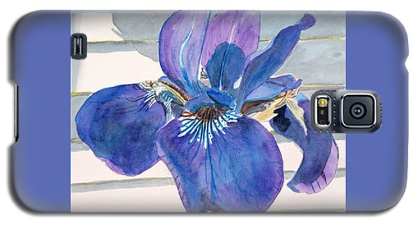 Galaxy S5 Case featuring the painting Blue Iris by LeAnne Sowa