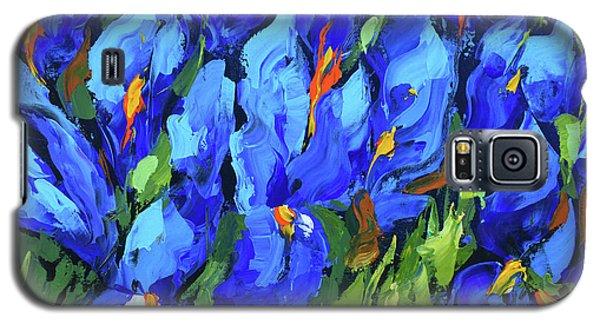 Blue Irises Galaxy S5 Case by Dmitry Spiros