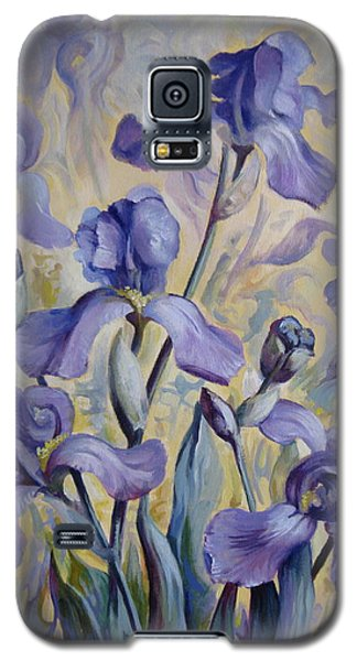 Blue Irises Galaxy S5 Case by Elena Oleniuc
