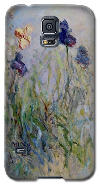 Blue Irises In The Field, Painted In The Open Air  Galaxy S5 Case