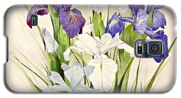 Blue Irises-posthumously Presented Paintings Of Sachi Spohn  Galaxy S5 Case