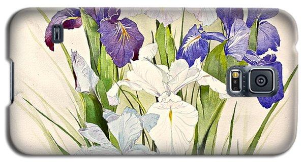 Blue Irises-posthumously Presented Paintings Of Sachi Spohn  Galaxy S5 Case