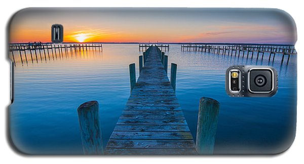 Galaxy S5 Case featuring the photograph Blue Is The Bay by Steven Ainsworth